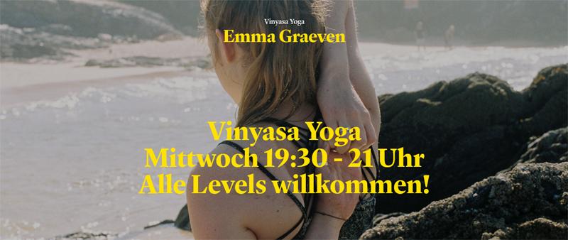 Vinyasa Yoga Mittwoch 19:30 - 21 Uhr im KulturCafé Friedelstr. in Berlin-Neukölln